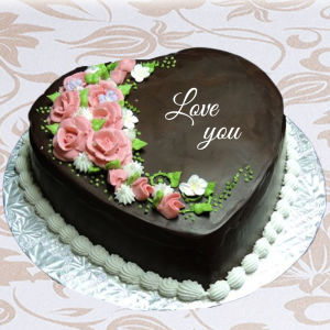 Order Chocolate valentine heart shape cake online