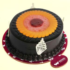 Order Duet Swirl Chocolate & Fruit Cake online
