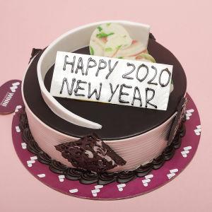 Order Chocolate Cream New Year Cake online