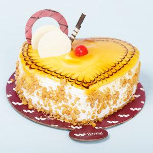 Order Butterscotch Heart Shape Cake online