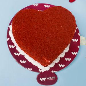 Order Yummy Red Velvet Heart Shape Cake online