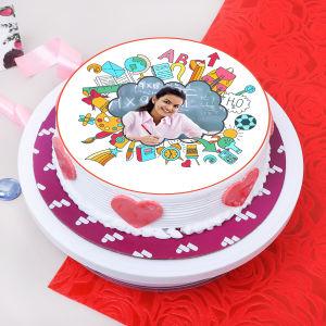 Happy Teachers Day Photo Cake