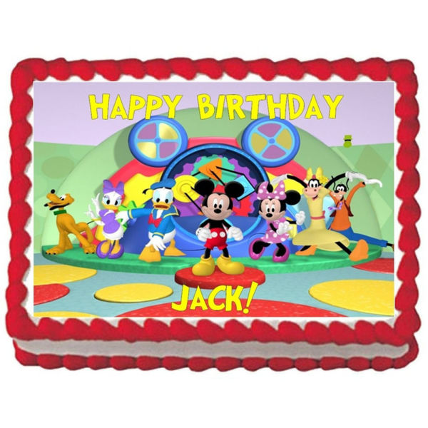Buy Mickey mouse clubhouse photo cake