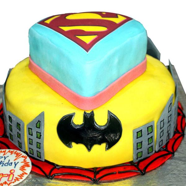 Buy Superman Batman  Cake