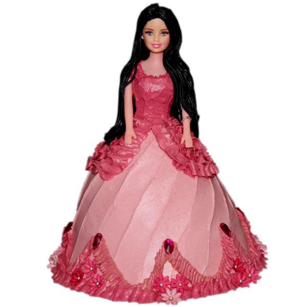 Buy Pink Dress Barbie Cake