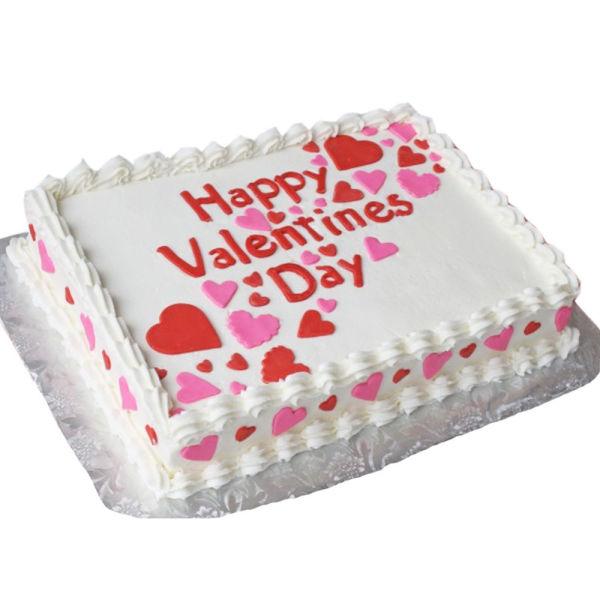 Buy Vanilla valentine day cake