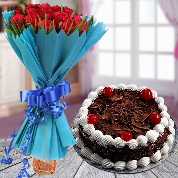 Buy Combo Cake and Flower