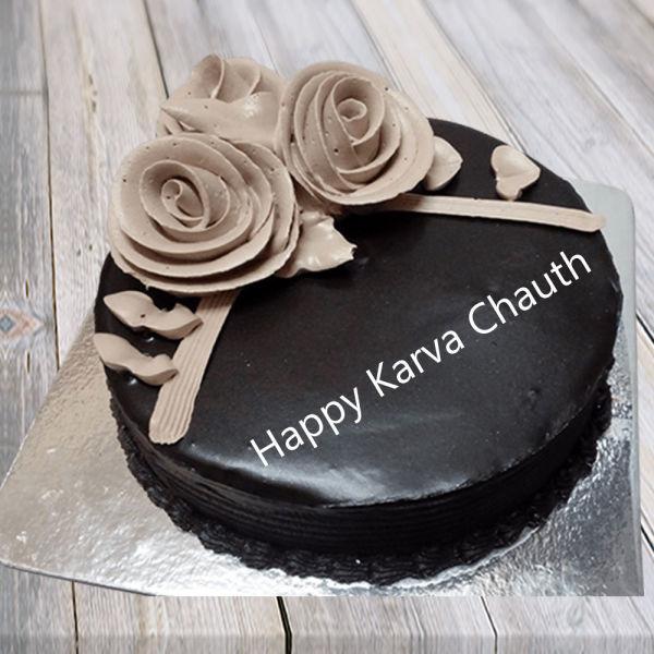 Buy KarvaChauth Chocolate Cake