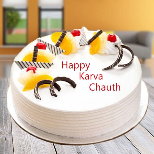 Buy Vanilla Karwachauth Cake