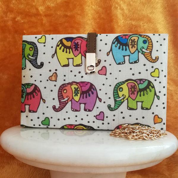 Buy Elephant Print Clutch