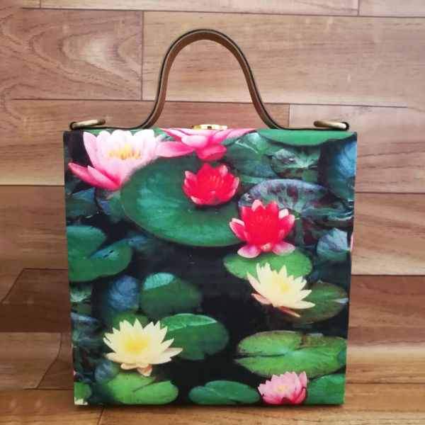 Buy Lotus Flower Print Handbag