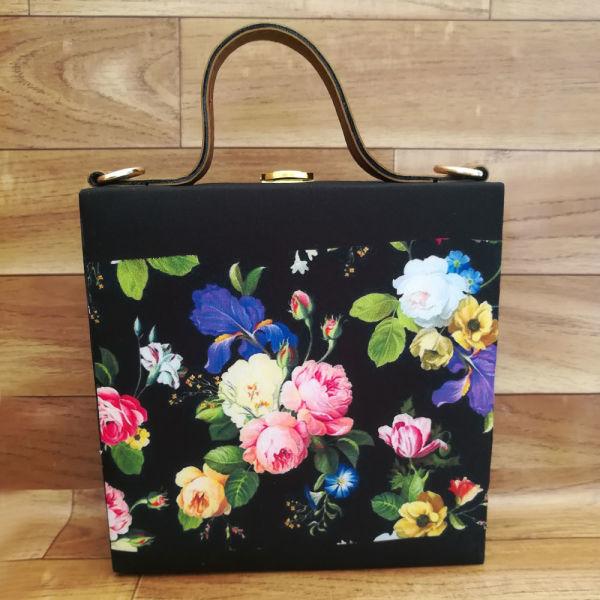 Buy Floral Black Handbag