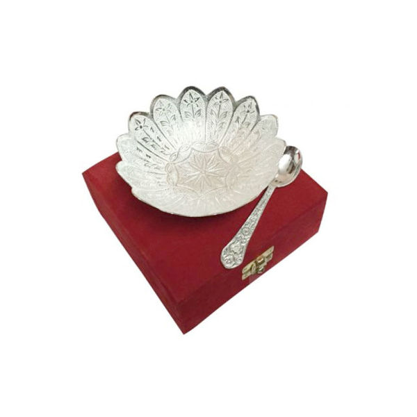 Buy Silver Plated Brass Bowl