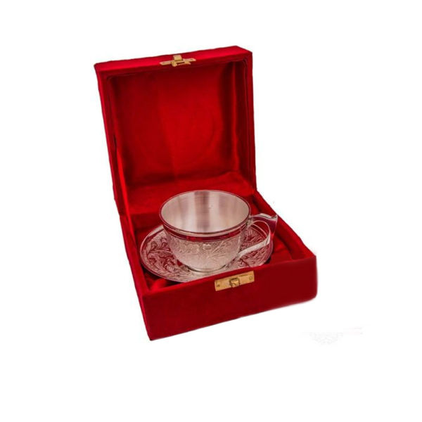 Buy Silver Plated Brass Cup & Saucer Set