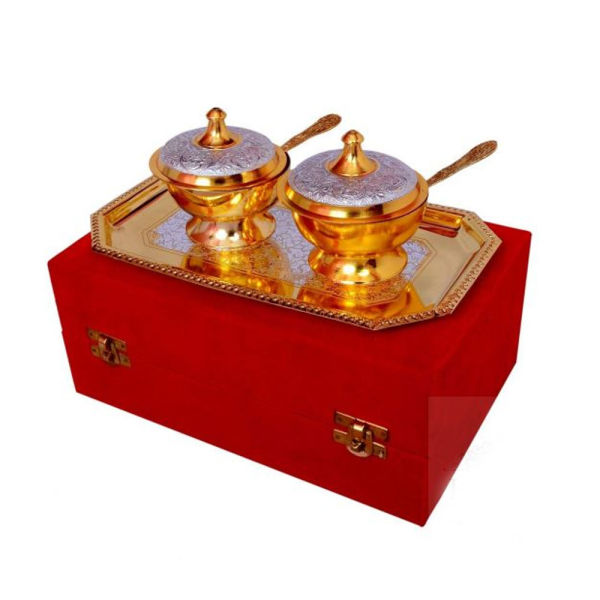 Buy Silver & Gold Plated Brass Mouthfreshner Set