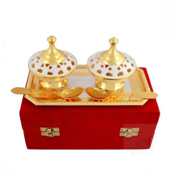 Buy Silver & Gold Plated Brass Mouthfreshner Set of 5 Pcs