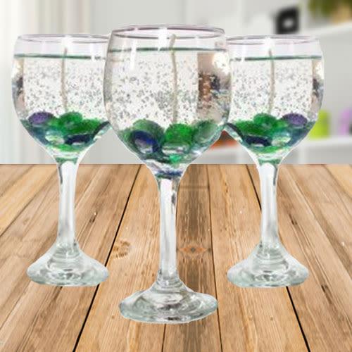 Buy Beautiful Wine Glass Candles