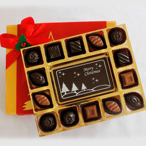Buy Merry Christmas Cheer with Classic Chocolate Truffles