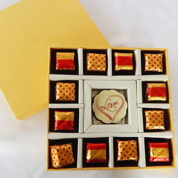 Buy I love you with Chocolate Truffles for your Valentine