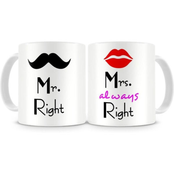 Buy Mr and Mrs Right Mug