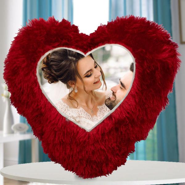 Buy Personalised Heart Shape Cushion