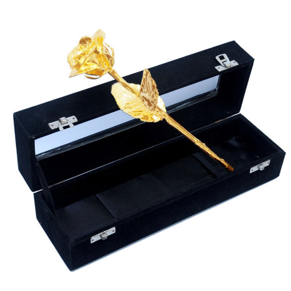 Buy Gold Plated Rose with Box