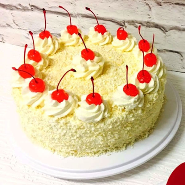 Buy Creamy White Forest Cake