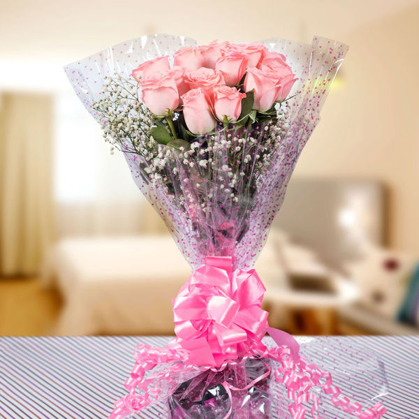 Buy Pretty Bunch of Pink Roses