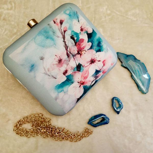 Buy Floral Design Clutch
