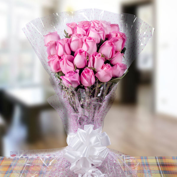 Buy First Step Blooming Pink Roses Bunch