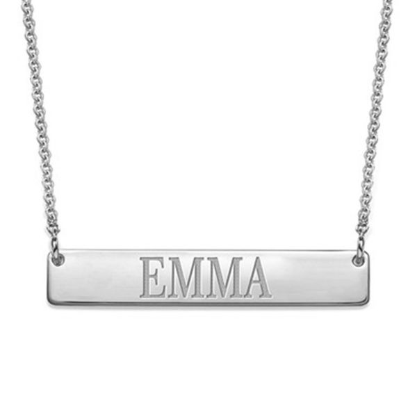Buy Customized Name Silver Plated Pendant