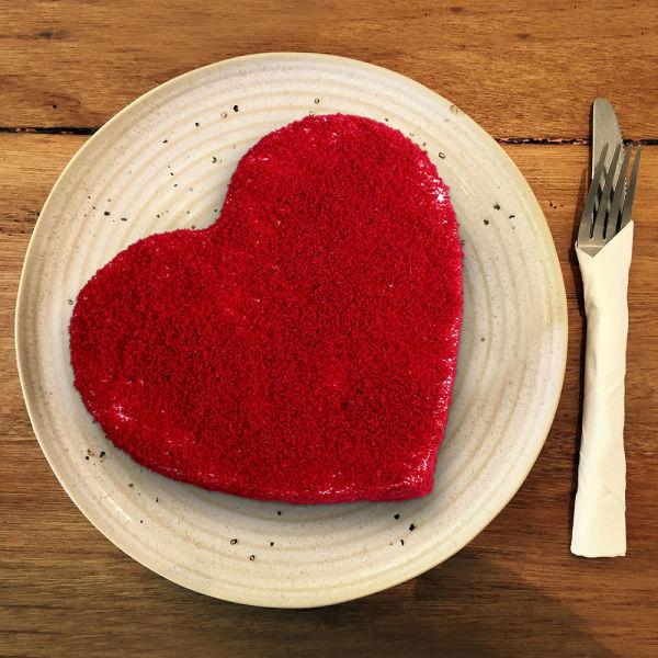 Buy HeartShaped Red Velvet Cake