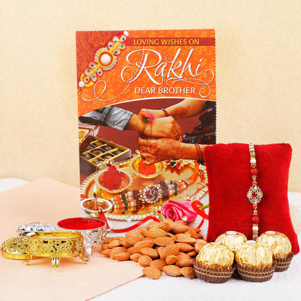 Buy Bhaiya rakhi with Ferrero Delights