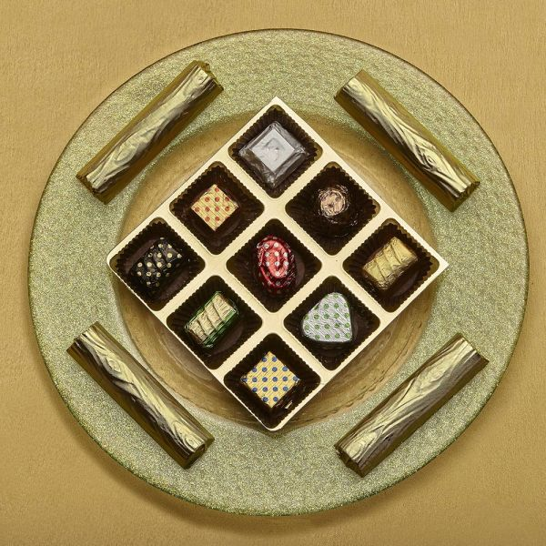 Buy Classic Chocolates and Logs Glass Platter