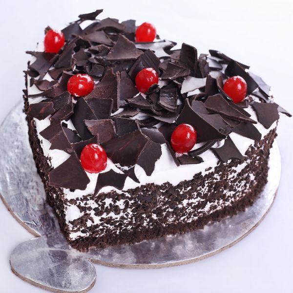 Buy Heart Shape Black Forest Cake