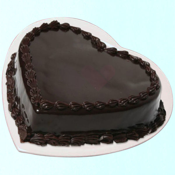 Buy Chocolate Heart Shape Cake