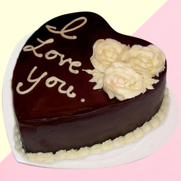 Buy Heartfelt Chocolate cake