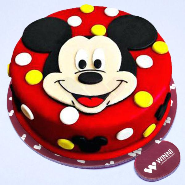 Buy Mickey Mouse Fondant Cake