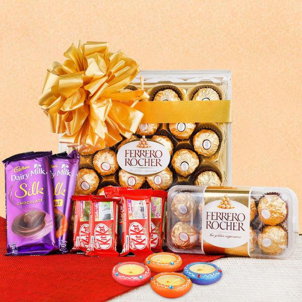 Buy Chocolates with Diyas
