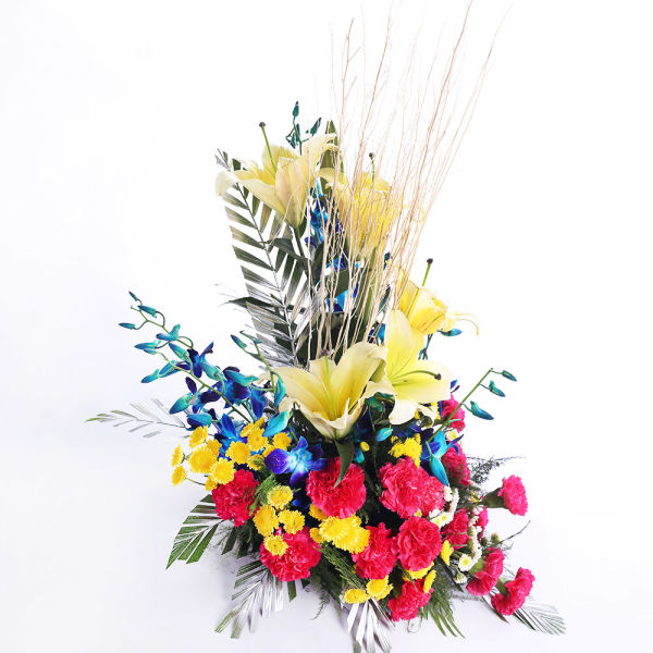 Buy Arrangement of mix exotic flowers