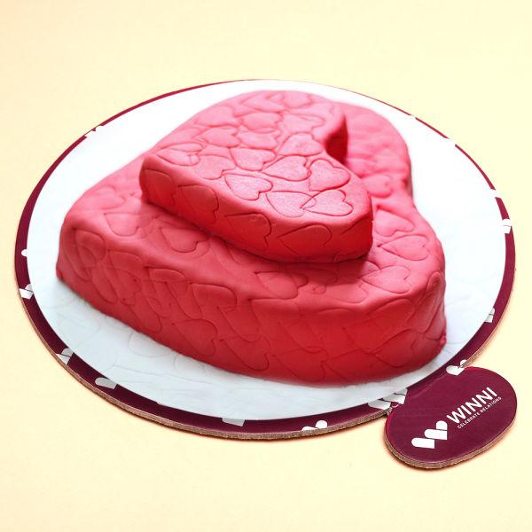 Buy Heart Beating Strawberry Cake