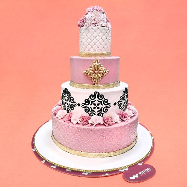 Buy Pink Crumble Wedding Cake