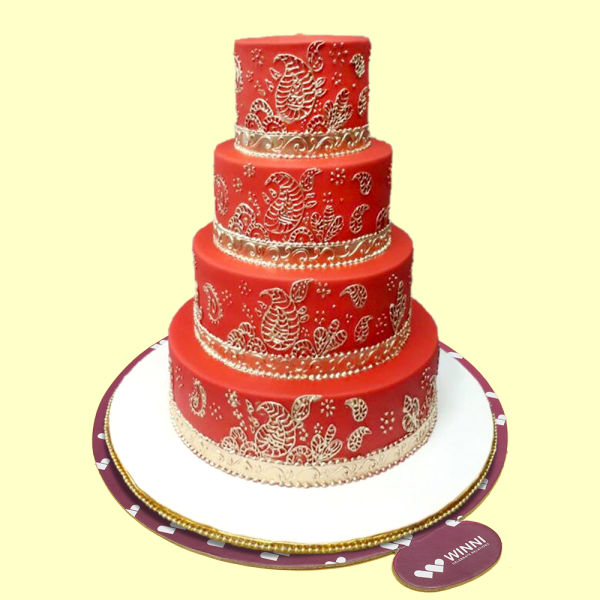 Buy The Red Charming Wedding Cake