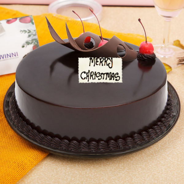 Buy Chocolate Truffle Christmas Cake