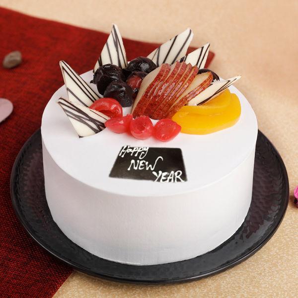 Buy Fresh Mixed Fruit Happy New Year Cake