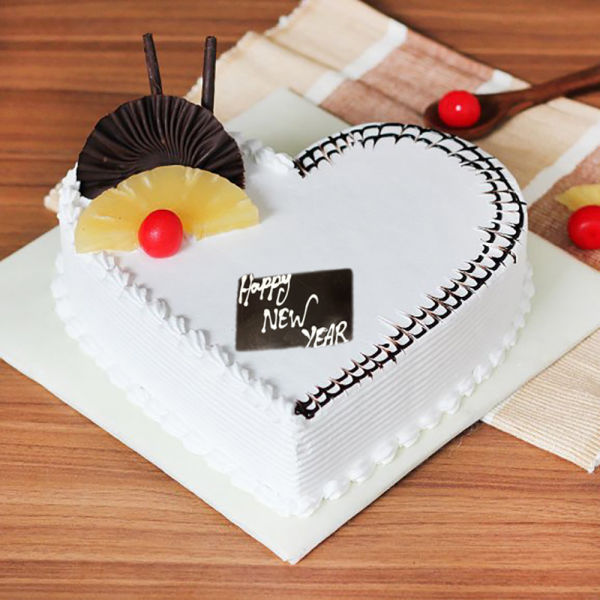 Buy Heart Shape New Year Pineapple Cake