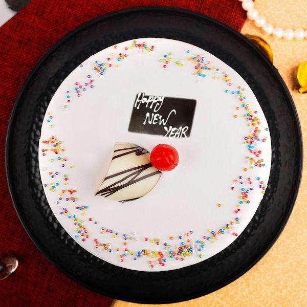 Buy Happy New Year Vanilla Cake