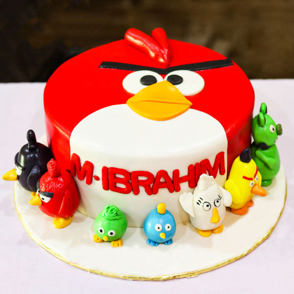 Buy Angry Bird Fondant Cake