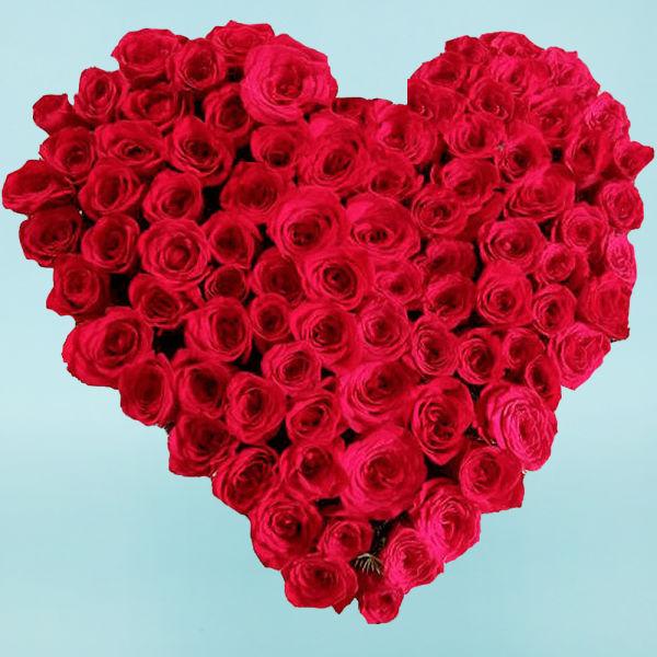 Buy Heart Shape arrangement of Red Roses