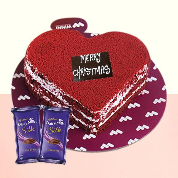 Buy Red Velvet Cake With Chocolates